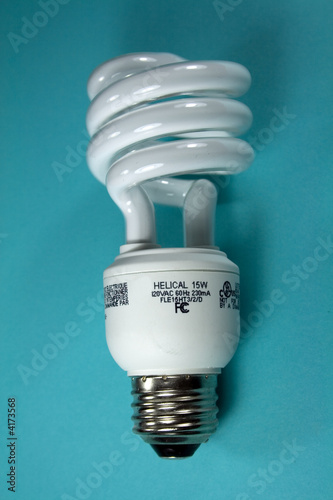 Light Bulb on Aqua