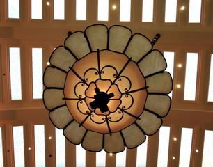 Elegant Chandelier Decorates Large Room