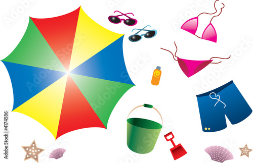 A Collection of Summer Beach Items