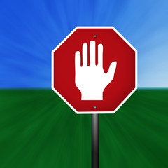 Graphic Warning Hand Sign