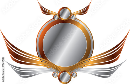 Gold and Silver Frame