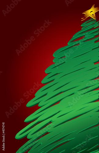 Modern Christmas Tree Background