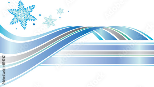 A modern graphic element for Winter featuring snowflakes