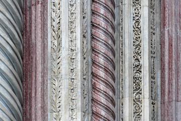 colonnes en marbre (détail)