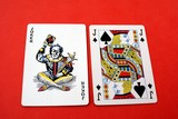 playing cards. Joker & Jack O Knave of spades poster