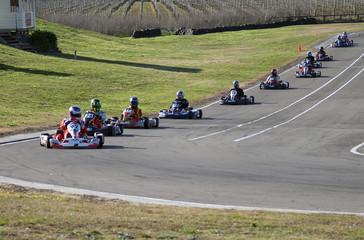 A Line of Go Karts