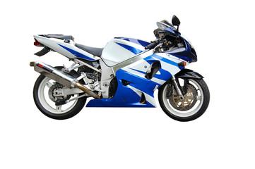 Motorbike blue white