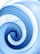 Quadro blue swirl