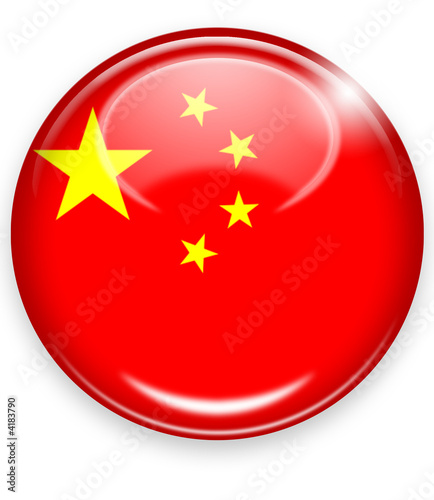 china flagge button