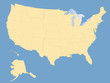 USA map - blank