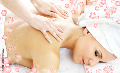 professional massage with flowers #2