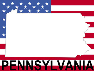 map of pennsylvania frame