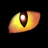 Glowing feline eye poster