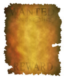 Old wanted poster poster