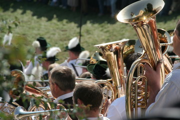 Standkonzert der Oktoberfest-Kapellen zu Füßen der Bavaria