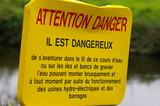 Panneau Attention Danger poster