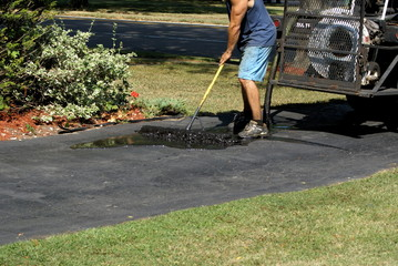 Sealing the driveway