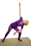 Senior Yoga - Modified Triangle poster