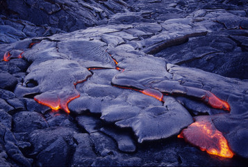 Lava flow, Hawaii Volcanoes National Park, Hawaii