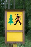 Access to forest forbidden sign poster