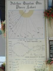 Horloge solaire Megeve