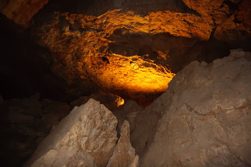 Light in the grotto