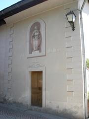 Facade decoree en trompe l'oeil à Megeve