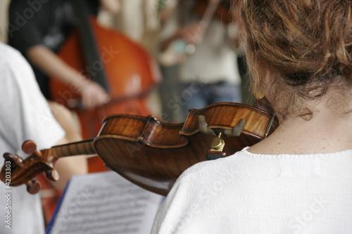 Violon et menton