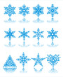 Christmas snowflakes /  vector / background.
