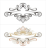 Vector swirl and banner for your text / Art Deco style poster