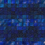 Glossy blue artistic tile mosaic for background poster