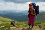 Couple of backpackers poster