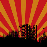 city radiate poster