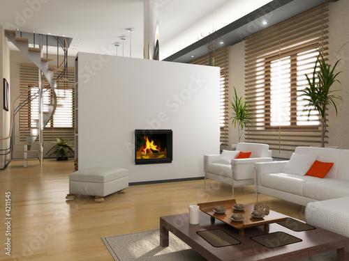 Fototapete Innenraum Haus - Wandtattoos - Fotoposter - Aufkleber