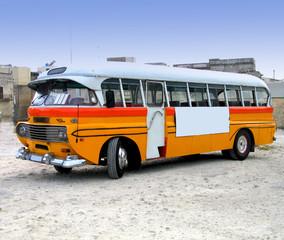Retro-styled maltese bus