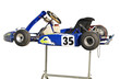 Blue Go Kart on Stand