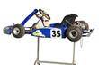 Blue Go Kart on Stand