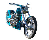Custom Built Motorbike with clipping path poster