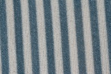 blue and white striped material poster