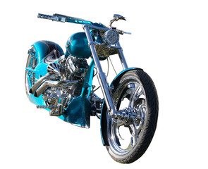 Custom Built Motorbike with clipping path