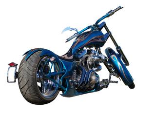 Blue Custom Motorbike