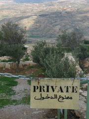 view from mountain Nebo (Jordan) to promised land