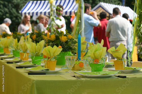 Papiers peints Table preparee Garden party