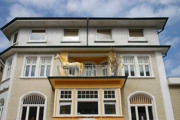 Hausfassade in Westerland (Sylt)