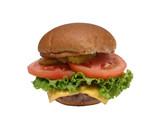 a burger poster