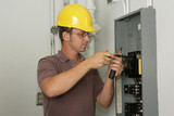 Electrician Industrial Panel poster