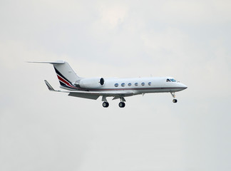 Modern corporate jet airplane