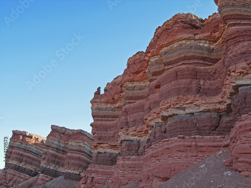 Colourful strata in natural rock formations - 4221573