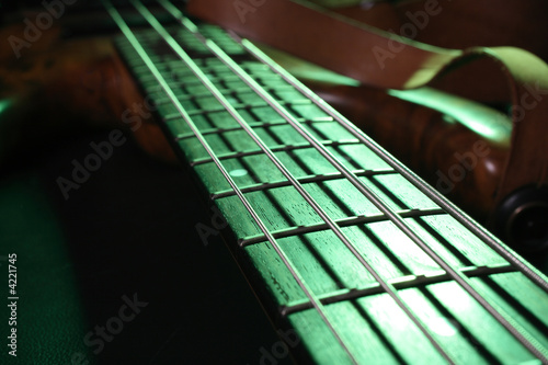 Green Bass Guitar
