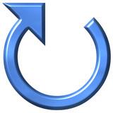 3D Azure Circular Arrow poster
